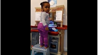 Feisty Little Toddler Has Serious Attitude Problem