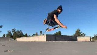 Inspiring disabled skater pulls amazing tricks