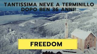 Terminillo 4k | FREEDOM | DRONE | CINEMATIC VIDEO: A lots of snow!!!