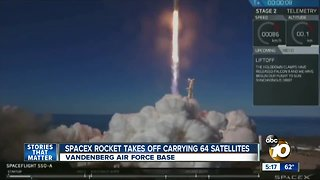 SpaceX rocket takes off