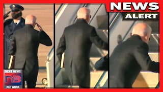 WATCH: Biden Nearly SMASHES His Face Boarding Air Force One