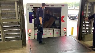 Pfizer vaccine arrives at Tampa General