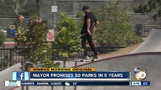 Mayor plans 50 new parks in 5 years