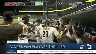 Padres win playoff thriller