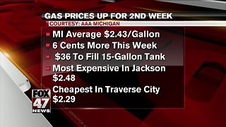 Michigan gas prices to increase soon