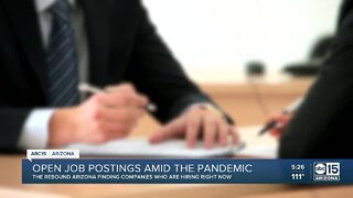 Open job postings amid the pandemic