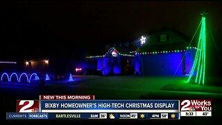 Bixby homeowner's high-tech christmas display