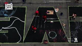 Black Lives Matter mural takes shape outside City Hall