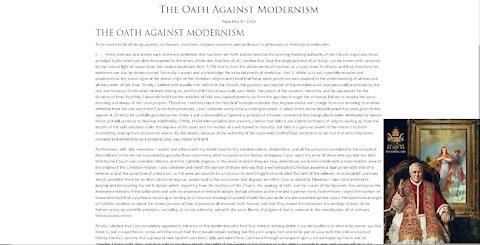 Oath Against Modernism ~ Fr. Ripperger