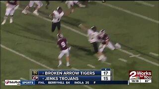 Broken Arrow Beats Jenks 17-15