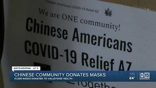 Chinese community donates masks