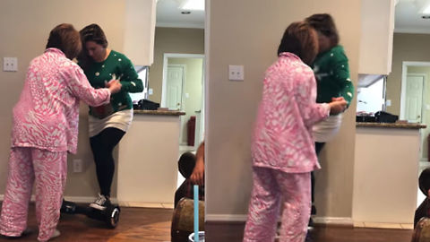 Girl Trying To Use Hoverboard GONE WRONG