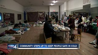 Community opens impromptu shelters for homeless in brutal cold
