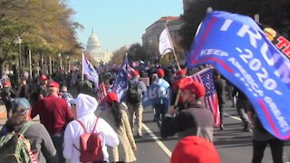 Trump Supporters Hits DC In Massive rally