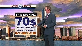 Metro Detroit Forecast: Slight chance of severe storms tonight