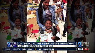 25-year-old mother killed on son's 7th birthday