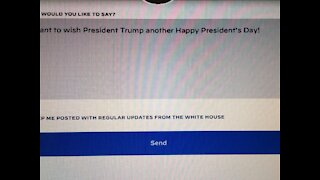 President's Day Wishes For Trump Via White House!