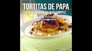 Potato Pancakes with Chorizo with Chipotle Sauce