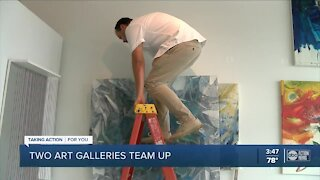 Art galleries with different styles collaborating together for the same goal