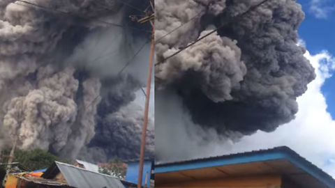Insane Footage Of Volcano Eruption In Indonesia Is Apocalyptic