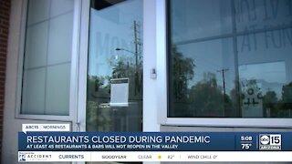 Restaurants shut down permanently amid pandemic