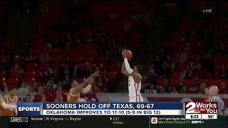 Kyler Murray honored during Oklahoma-Texas Hoops Game