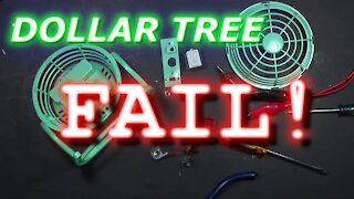 048 - Dollar Tree Fan Teardown- Garbage? Fire Hazard?