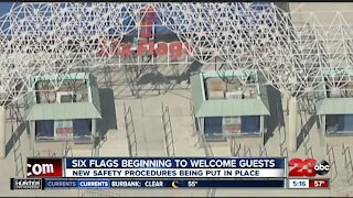 Six Flags beginning to welcome guests, new safety procedures being put in place