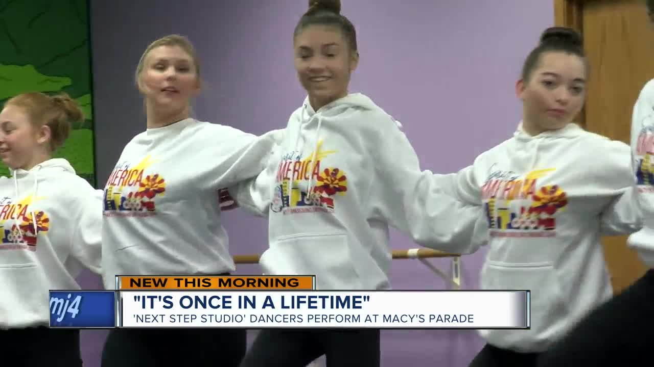 'Next Step Studio' dancers perform at Macy's Thanksgiving Day Parade