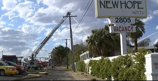 AT THE SCENE: 2-alarm fire at motel near downtown Las Vegas