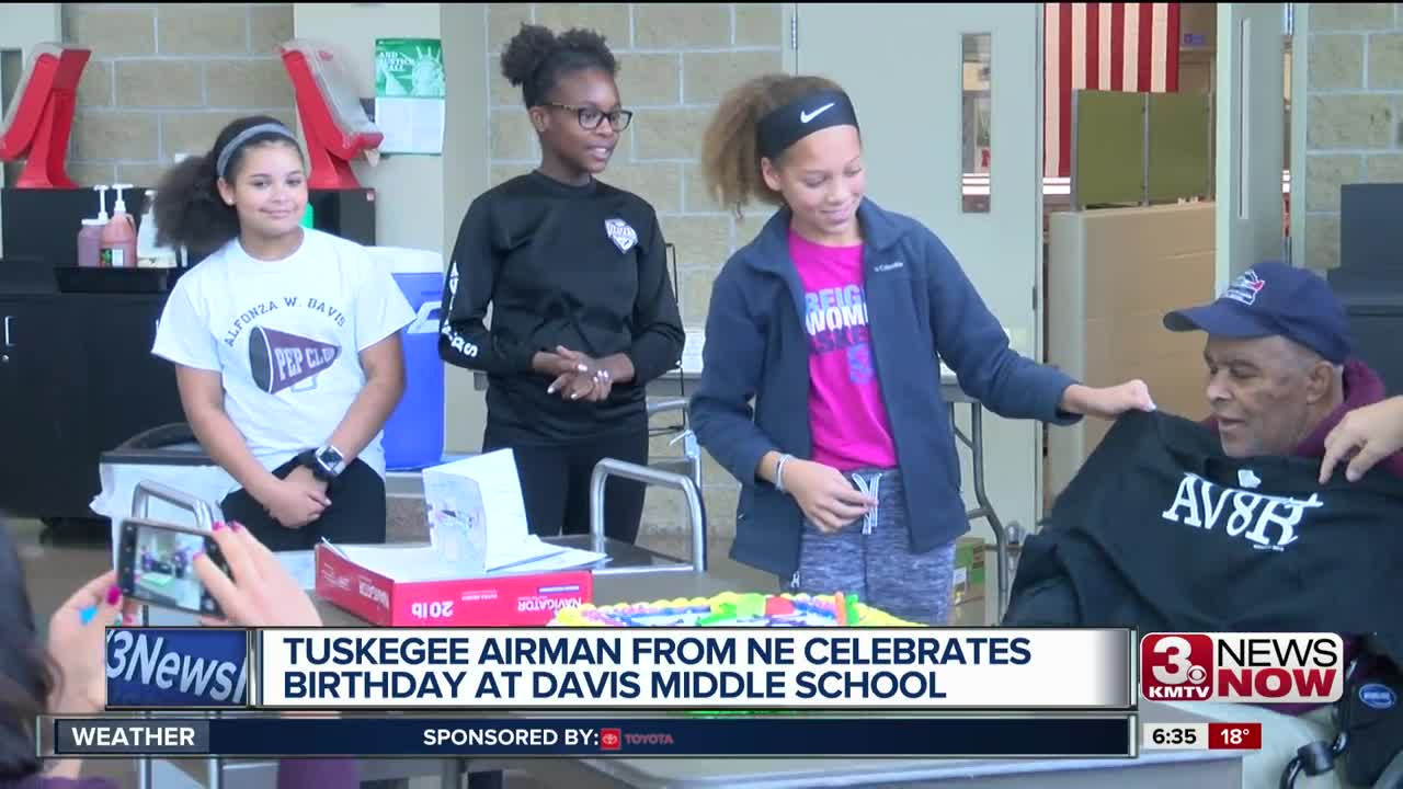 Tuskegee Airman celebrates 95th birthday with OPS school