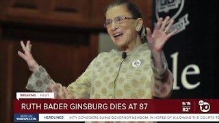 Ruth Bader Ginsburg dies of cancer
