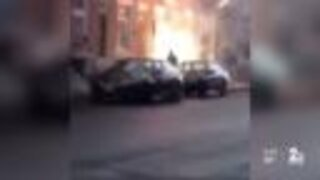 Viral videos show fireworks launched at residents in Baltimore