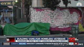 Building vans for homeless veterans