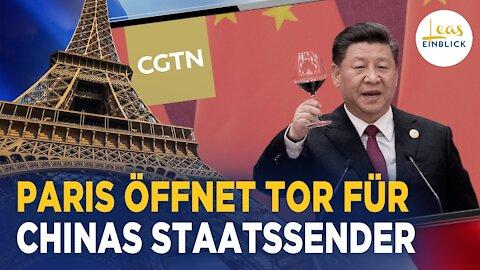 China-Sender umgeht britisches Verbot über Frankreich   Pekings Propaganda verpackt als FAZ-Anzeige