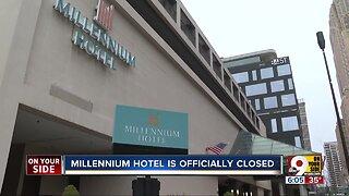 Millennium Hotel closed, awaits wrecking ball