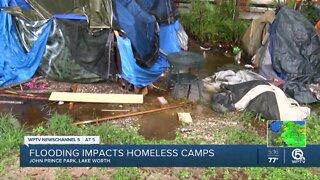 Flooding impacts homeless living at John Prince Park