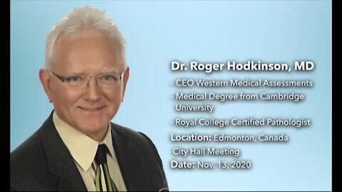 Dr Roger Hodkinson BLOWS THE WHISTLE on the covid19 SCAM
