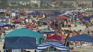 Many tourists planning to ride out Tropical Storm Elsa in Fort Myers Beach after 4th of July