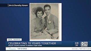 Valley couple celebrates 70th wedding anniversary