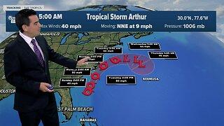 Tropical Storm Arthur update 5/17/20