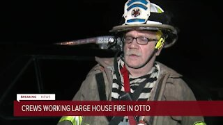 Three hospitalized, one person missing as fire destroys an Otto house overnight