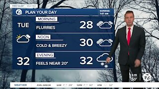 Metro Detroit Forecast: Cold and windy day; more snow showers tonight
