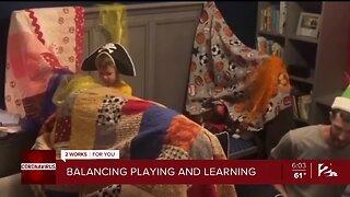 Balancing playing and learning