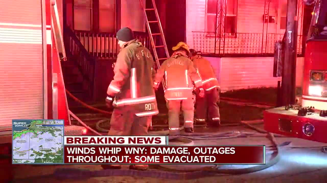 Crews battle flames, whipping winds at East Side house fire