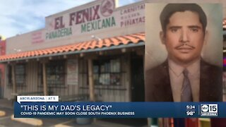 COVID-19 pandemic may soon close south Phoenix business