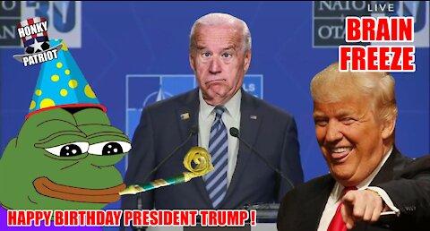 JOE BIDEN GETS BRAIN FREEZE WHEN ASKED ABOUT PUTIN ON TRUMP'S BIRTHDAY !