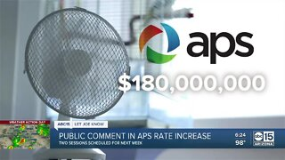 Public comment session in APS rate increase