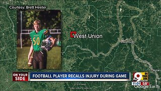 West Union Football player injured on the field