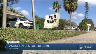 Lee County vacation rentals get green light to reopen
